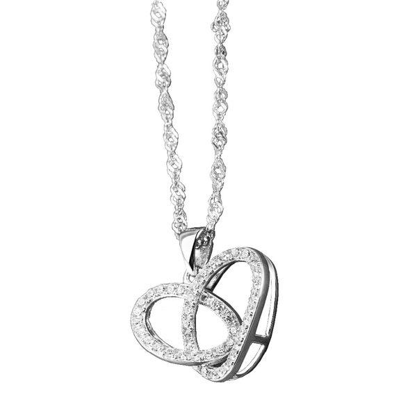 GEEZII Double TWO Coeur Pendentif Colliers pour Femmes Bijoux De Mode Cadeau D'anniversaire Femme Mariage