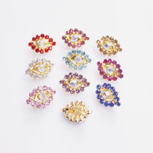12 pcs /lot eye designal Women Scarf safety Pin New Hijab Pins with colorful rhinestone free shipping
