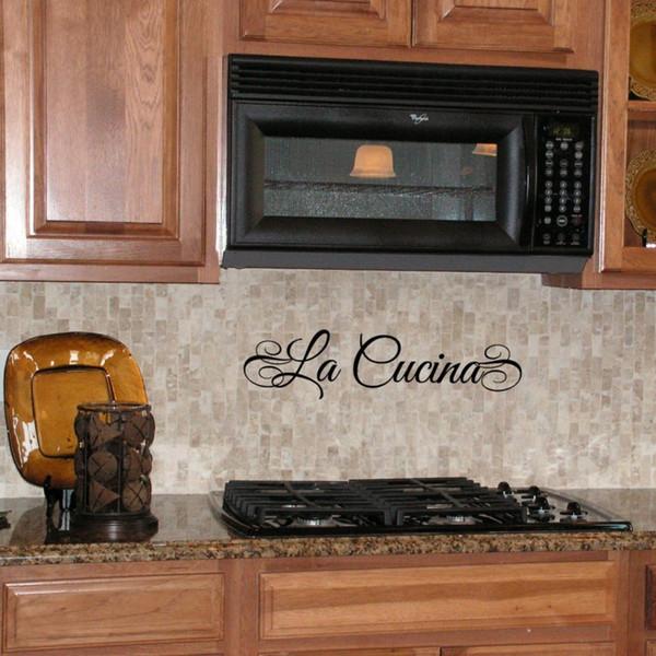 LA COCINA Spanish Or LA CUCINA Italian Kitchen Waterproof Vinyl Lettering  Wall Decal Stickers,Spa3002 Decor Stickers Decor Stickers For Walls From ...