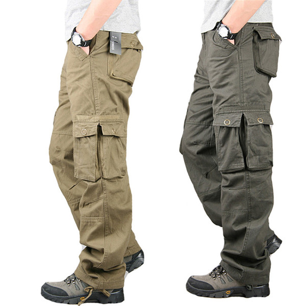 Tactical Cargo Pants Army Militar Pants Male Special Forces Soldiers Camouflage Overalls Clothes Loose Baggy Trousers Plus Size Y1892801