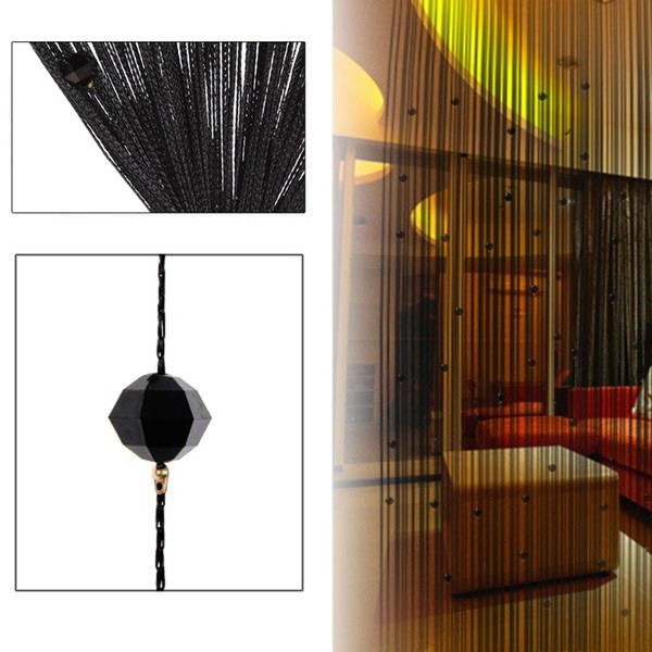 best selling Tassel Curtain Crystal Beads Tassel Silk String Curtain Window Door Divider Sheer Curtains Valance Door Windows Panel Curtain Living Room