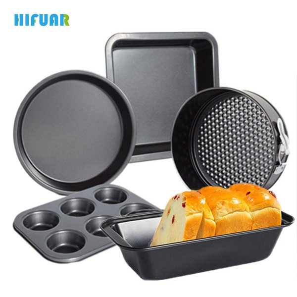 Hifuar 5Pcs/Set Non-Stick Metal 3D Cake Mold Pan Cake Mold Baking Tools Maker Tray Sets DIY Set Tools