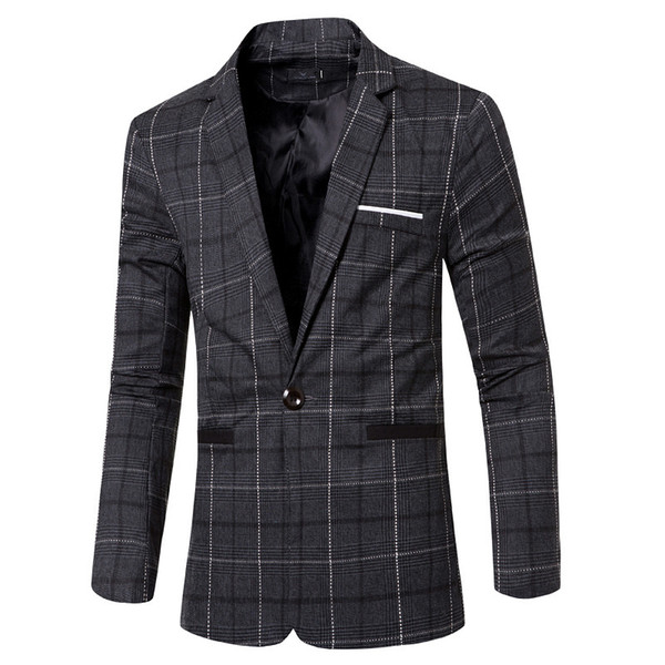 Clothing New Pattern Classic Will Lattice Man's Suit Man Fashion Single Row One Button Small Sale