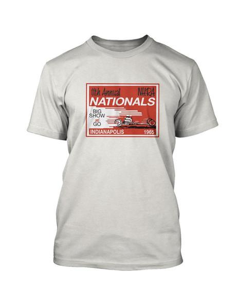 Jahrgang Drag Racing T-Shirt 1965 NHRA Nationals Hot Rod 100% Baumwolle