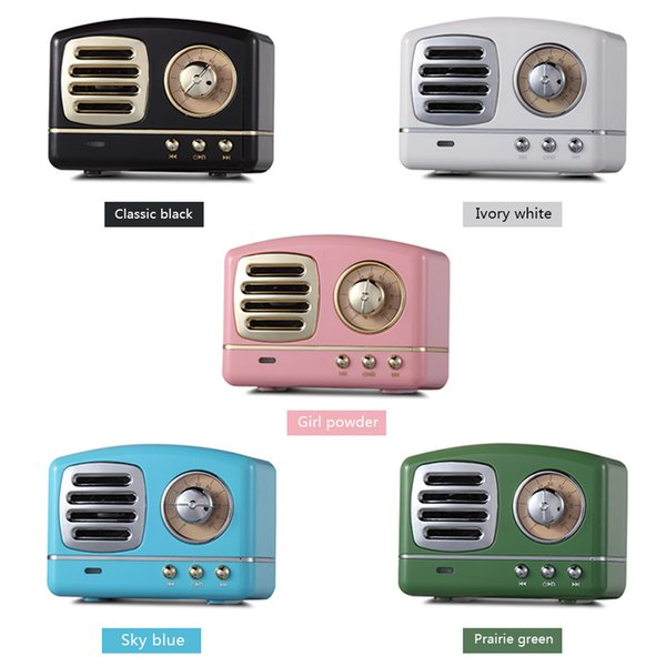 Retro Radio Bluetooth Speaker Vintage nostalgic Heavy Bass 3D Stereo Surround HiFi Speakers support TF USB FM AUX For iphone mobile phone