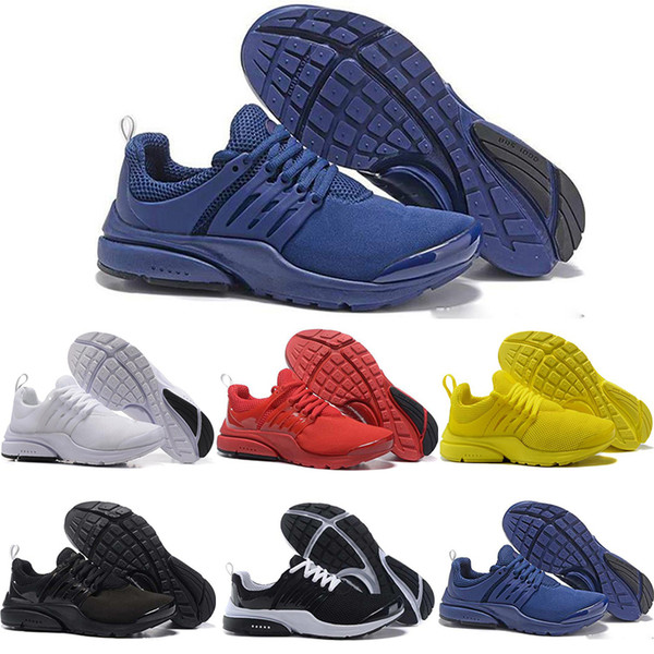 new presto running shoes yellow red br qs breath triple black white mens women designer shoes trainer runner sport sneakers us 5.5-11