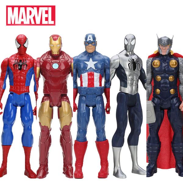 Hasbro Marvel Toys The Avenger 30CM Super Hero Thor Captain America Wolverine Spider Man Iron Man Collectible Model Toy Dolls Kids Gift
