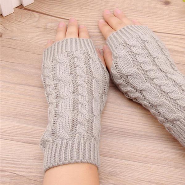 Fashion 20Cm Women Gloves Stylish Hand Warmer Winter Gloves Women Arm Crochet Knitting Faux Wool Mitten Warm Fingerless