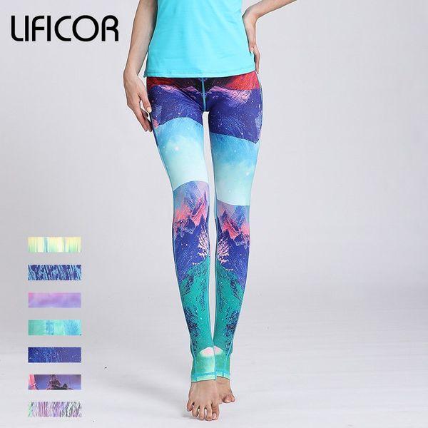 Novas Mulheres Calças de Yoga Em Execução de Fitness Leggings Esporte Calças de Yoga para o Sexo Feminino de Fitness Athletic Gym Sexy Impressão Fit Cintura Elástica Fina