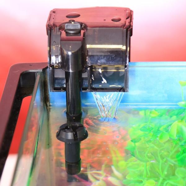 top popular SUNSUN 2W 5W Multi-function Aquarium External Filter Hanging Waterfall Filter Pump Fish Tank Hang On Filter HBL-301 501 2021