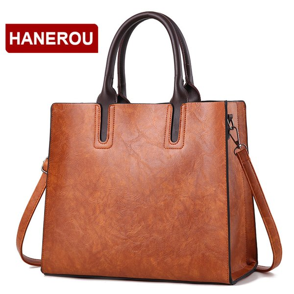 b68fad0f3620 Vintage Women Leather Handbag Female Fashion Leather Shoulder Bag Women  Casual Tote Bag Handbag Sac a Main Ladies Hand