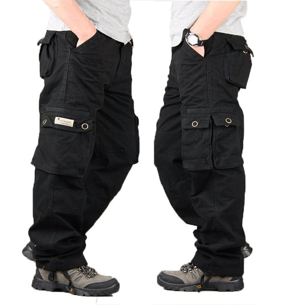 Cargo Pants Style Tactical Pants Mens Baggy Trousers Army Casual Work Pantalones Plus Size Loose Cotton Pant 38 & 40