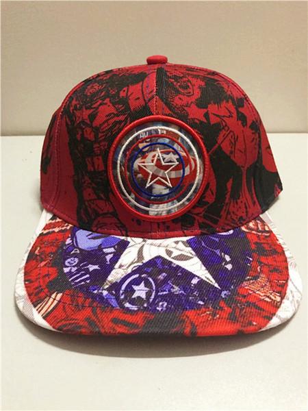 Summer Childrens Baseball Cap Boys&Girls Cartoon Captain America Snapback Adjustable Kids Hip Hop Hat Sun Cap