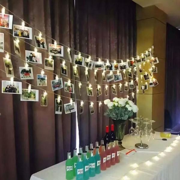 3m Geburtstag Dekoration Hochzeit Baby Shower Taufe Versorgung Sternen Foto Halter String Light Anniversary Clip Fenster Weihnachten