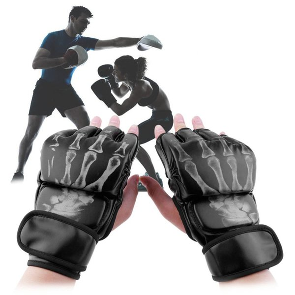 Hot Sale MMA Fight Boxing Half Finger Glove MMA Sparring Gloves Fight Sandbags Professional Wrestling Fighting Fitness Gear