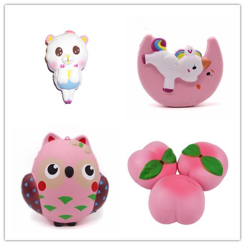 wholesale Squishy Collection Slow Rising Bread Scented Squishies Foam Cute Cartoon Kawaii Fruits Animals Ice Cream Unicorn Squishy Toys