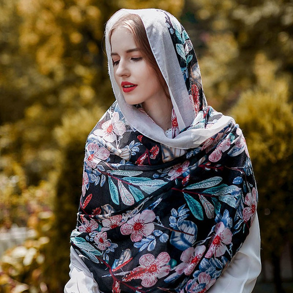 Fashion Autumn Scarf For Women 2018 New Printing Elegent style 180CM Scarf 4 Styles Soft Cotton Scarves And Shawls Cheap Price