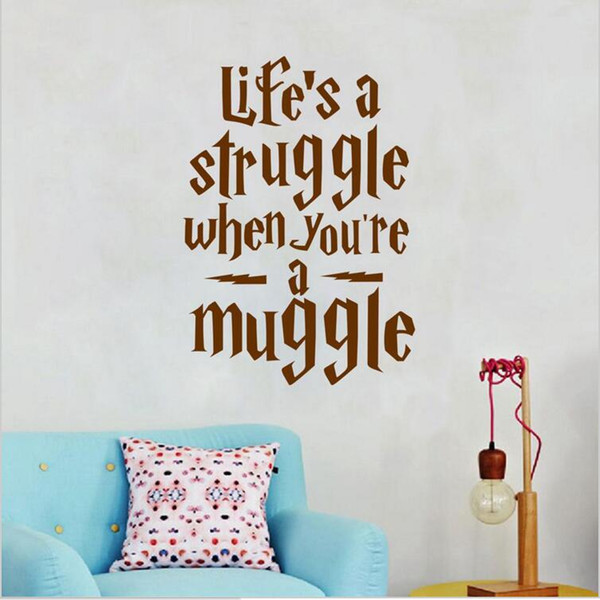 Harry Potter Wall Decals Vinyl Life Quotes Wall Art Decals for Living Room Bedroom Home Decor Motivation Wall Sticker
