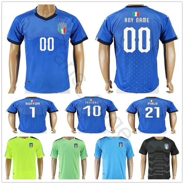 Maillot de football de la Coupe du monde de football 2018 en Italie ZAZA INSIGNE EL SHAARAWY PIRLO MARCHISIO De Rossi Bonucci
