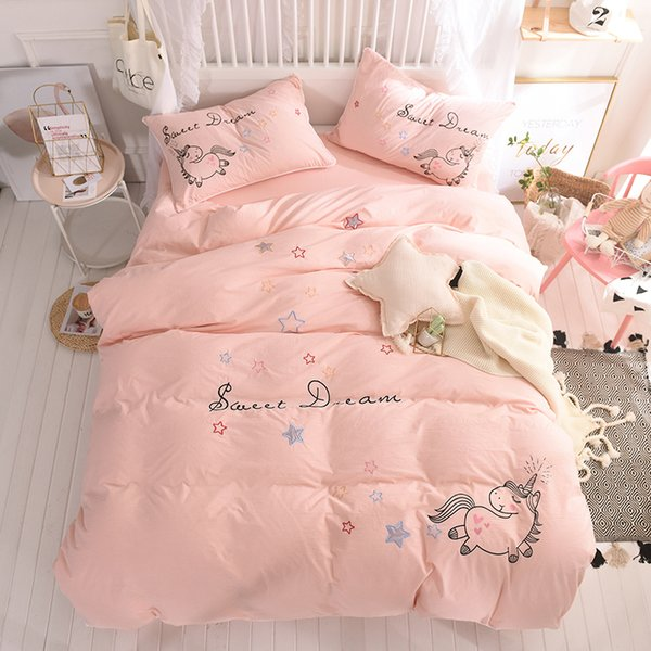 Einhorn Vögel Einzelbett Doppelbett Kingsize Bettbezug Set Bettwäsche
