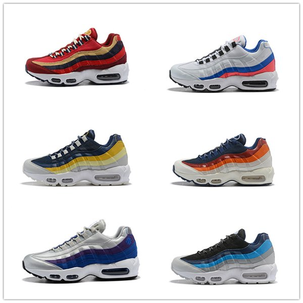 outlet store 40da6 3214f 2018 Cheap Sale 95 Essential OG Luxury Designer Casual Shoes For Good  Quality 95s Black White Orange Men Women Athletic Sneakers Size 36 46 Mens  Boots ...