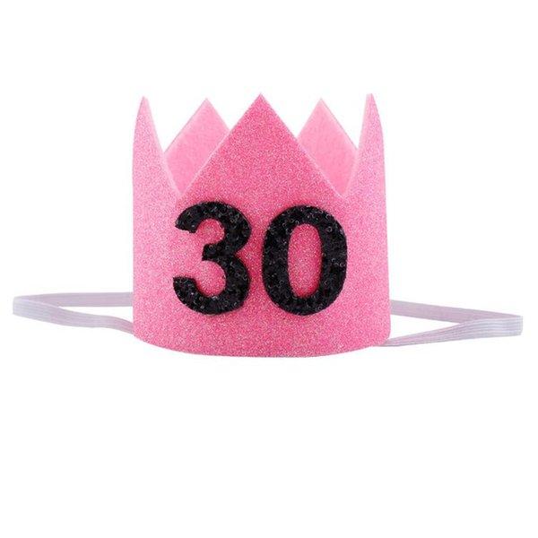 pink 30 white band