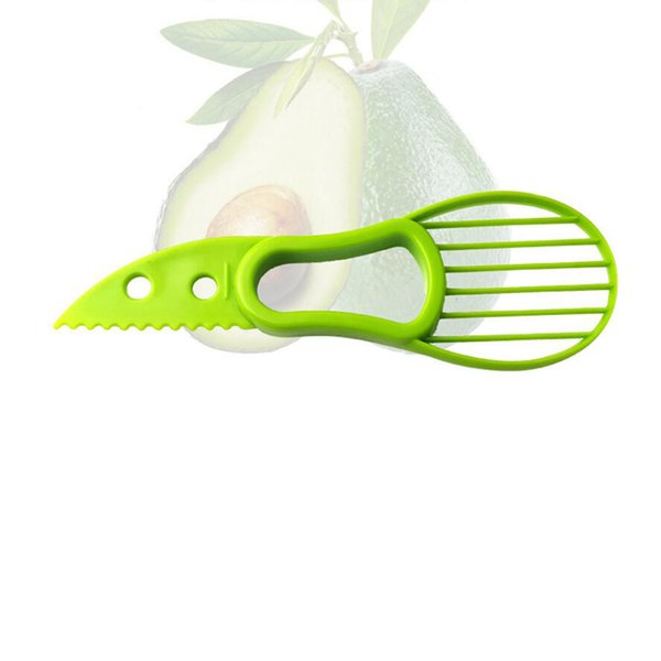 top popular 3-in-1 Avocado Slicer Shea Corer Butter Peeler Fruit Cutter Pulp Separator Plastic Multifunctional Knife Kitchen Vegetable Tools 2019