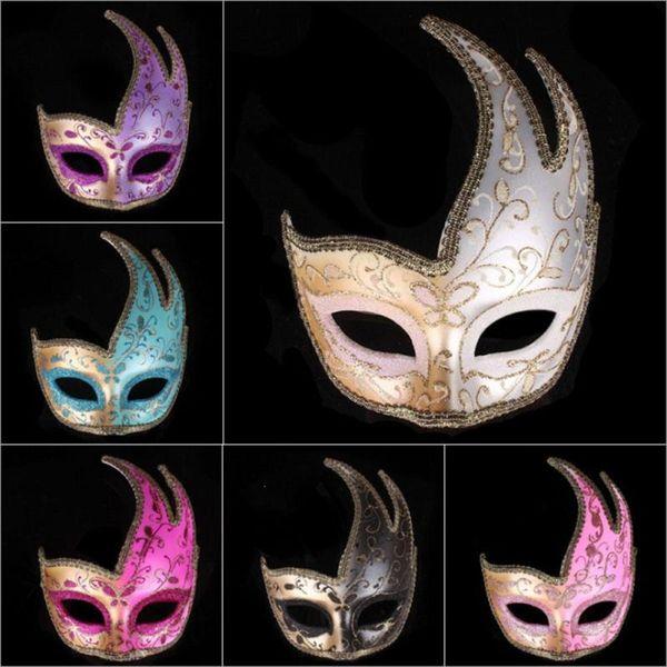 Венецианский маскарад маска маска цветок костюм глаз для Halloween Party Необычные платья Реквизит Половина лица Headwear партии Supplies