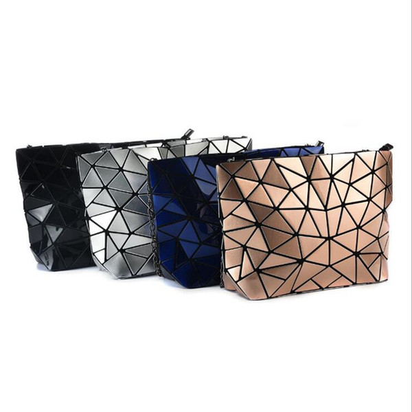 Designer Bags Women Rhombus Clutch Bag Geometric Lattice Chain Bags Girl Crossbody Bag Fashion Shoulder Bags Makeup Organizer 5 Color YW1016