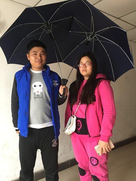 Новый Дизайн Ветрозащитный Зонтик Два Человека Большие Пары Зонтик Две Головки Двойной Размер Защиты Дождя Подарок для Любителей