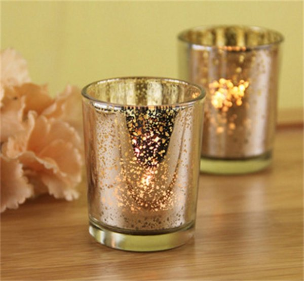 Modern Minimalism Glass Candlestick Electroplating Silver Light Gold Candle Holder Bar Western Restaurant Prop Ornament 2 5 bd gg
