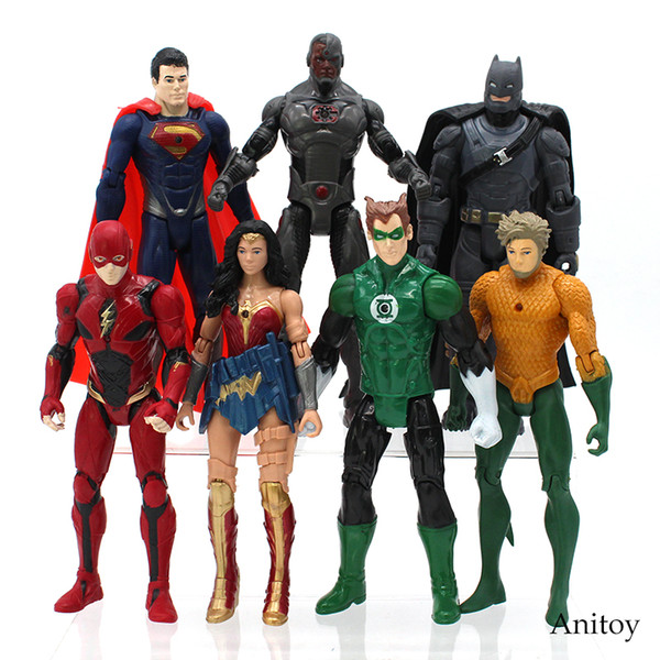 model toy Justice league Aquaman Superman Wonder Woman the Flash Batman Green Lantern VC Figure Collectible Model Toy 2 Style 15-17cm