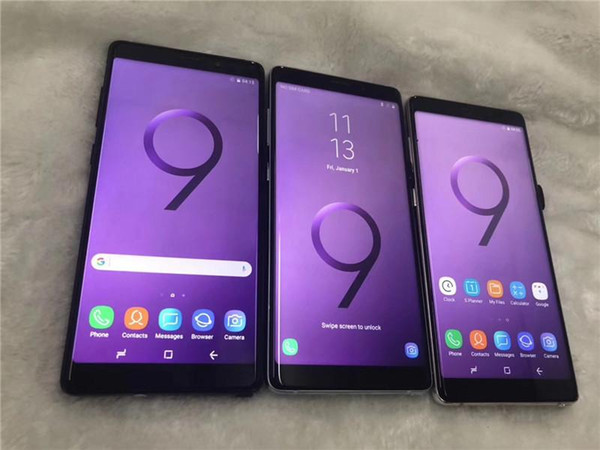 Goophone note9 6.2 Inch 1GB+16GB ROM Real Face ID Real Fingerprint 3G WCDMA Show LTE WIFI Camera Cell Phone