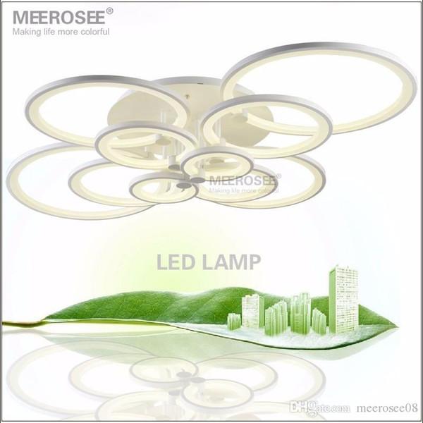 White LED Chandelier Lustre Light Large LED Ring Lamp Fixture Flush Mounted LED Circles Lamp for dining sitting bedroom
