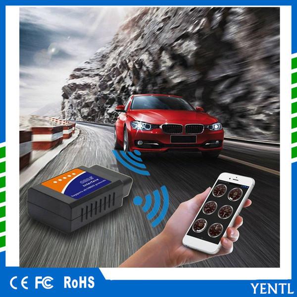 FREE SHIPPING 2018 New ELM 327 Bluetooth ELM327 OBDII / OBD2 V2.1 Vehicle car Diagnostic Scanner Tool Reader Works On Android