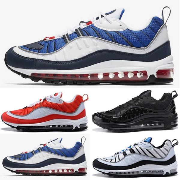 Großhandel 2018 98 New Fashion Classic Style Herren Schuhe Authentic Sportschuhe Luftpolster High Top Sneakers Laufschuhe Size36 45 Von Metoosports,