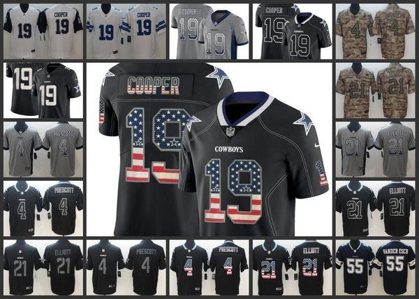 detailed look f1d21 3ce9d 2019 Dallas Cowboys Men Jersey #19 Amari Cooper 4 Dak Prescott 21 Ezekiel  Elliott 55 Leighton Vander Esch Women Youth Football Jerseys From ...