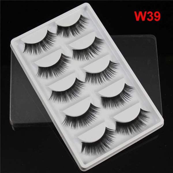 Brand New 5 Pairs Pack Thick False Eyelashes Synthetic Hair handmade Natural look Fake Lashes 11 styles available DHL Free