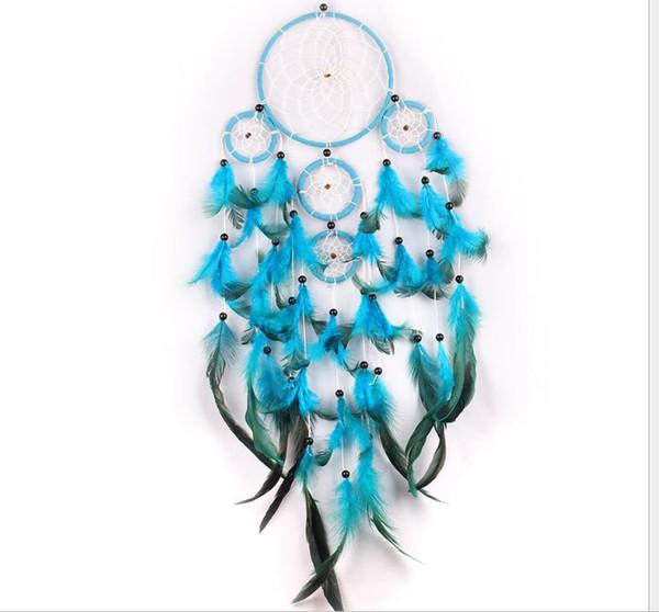 blau mit schwarzen Perlen