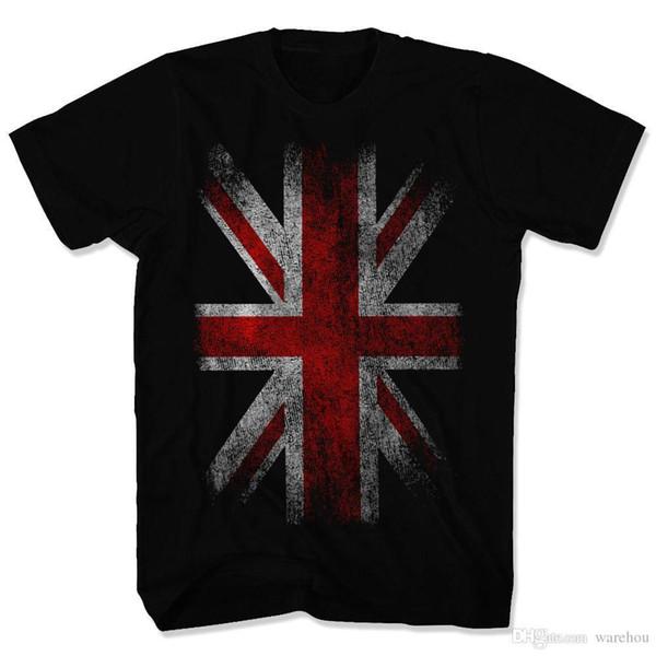 İNGILTERE BAYRAĞı Union Jack Vintage T-Shirt S-3XL İngiltere Bayrağı Birleşik Krallık İNGILTERE Üst Tee Gömlek Tshirt Erkekler Kadınlar Için
