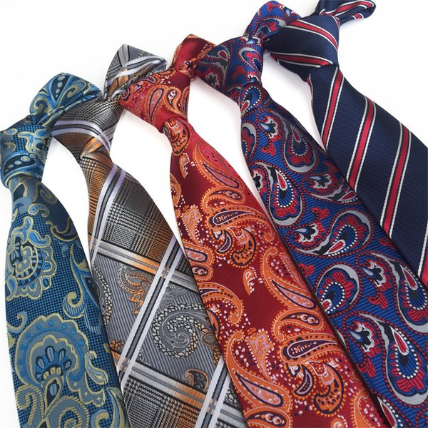 Men Leisure Formal wear Business tie Professional polyester silk tie Arrow-shaped jacquard Striped tie new style wholesale