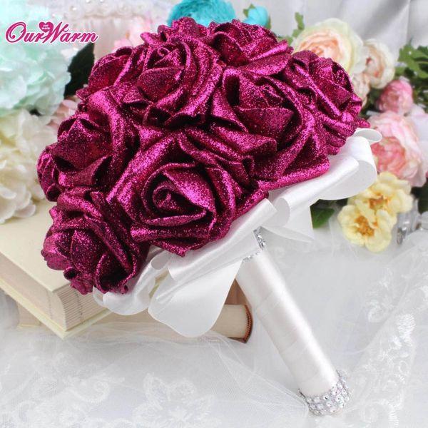Rose Mariage Bling Bouquets Fleurs De Mariée Strass Bouquet Artificiel Fleurs pour Décoration De Mariage Articles De Fête