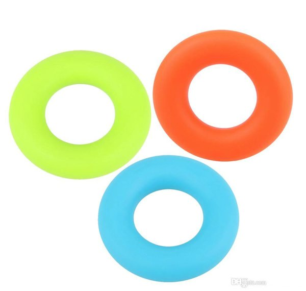 wholesale-7cm Diameter Strength Hand Grip Ring Muscle Power Training Rubber Ring Exerciser Gym Expander Gripper Finger Ring