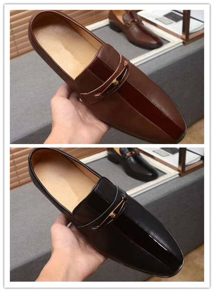 Melhor Qualidade de Couro De Couro Real Dos Homens Sapatos Casuais de Luxo Designer Oxford Vestido Sapatos tamanho 38-46