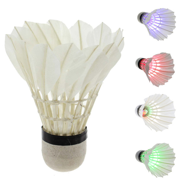 Dark Night Colorful LED Lighting Sport Feather Birdies Badminton