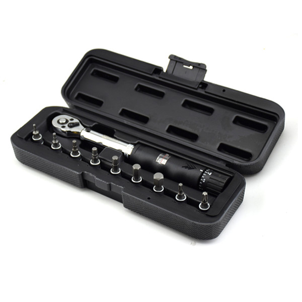 """Freeshipping 1/4""""DR 2-14Nm bike torque wrench set Bicycle repair tools kit ratchet machanical torque spanner manual torque wrench"""