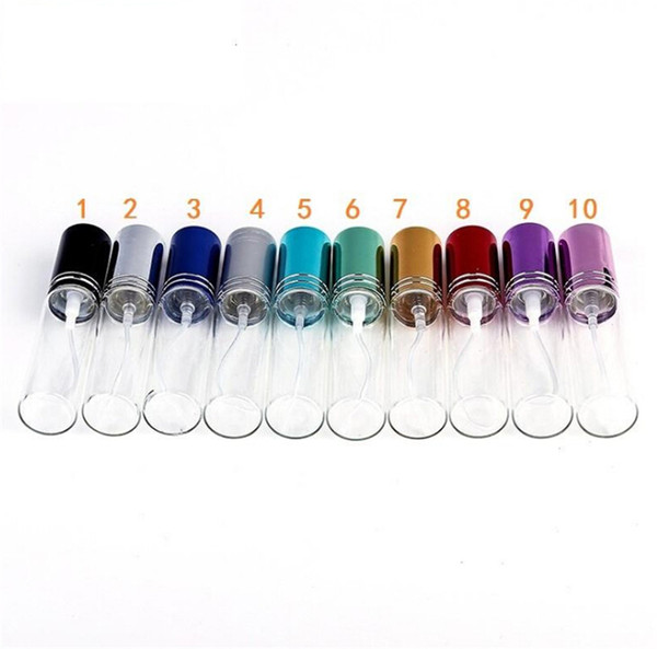 top popular Top sale MINI 10ml metal Empty Glass Perfume Refillable Bottle Spray Perfume Atomizers Bottles DHL EMS Fedex Free Shipping 10 colors 2021