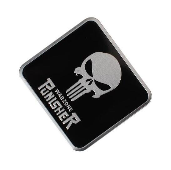 Прохладный символ Каратель Наклейка на голову черепа Стайлинг автомобиля Металлическая эмблема 3D Наклейки Творческий знак Badge Авто наклейки [More Skull logo option]