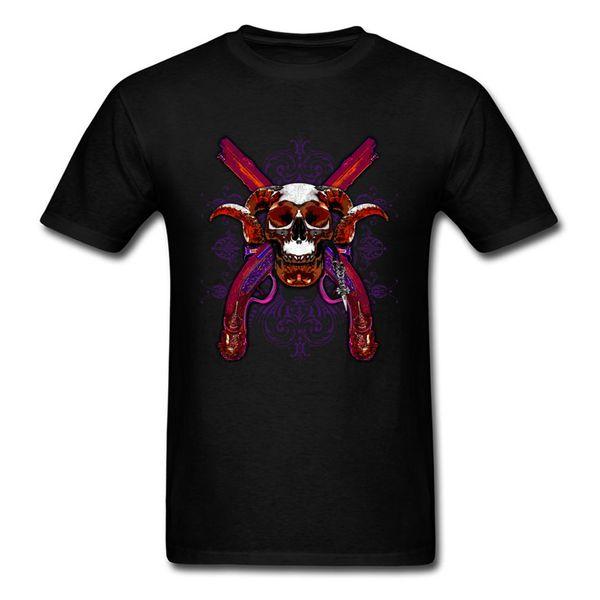 Pirate Skull Tshirt Short Sleeve Family 2018 Discount Men Summer Tops Shirts Family Sweatshirts O Neck 100% Cotton
