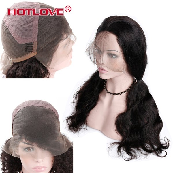 Hotlove Brazilian Human Hair Body Wave Full Lace Wigs For Women 150% Density Wigs No Shedding Natural Color 8-26 inch Free Shipping